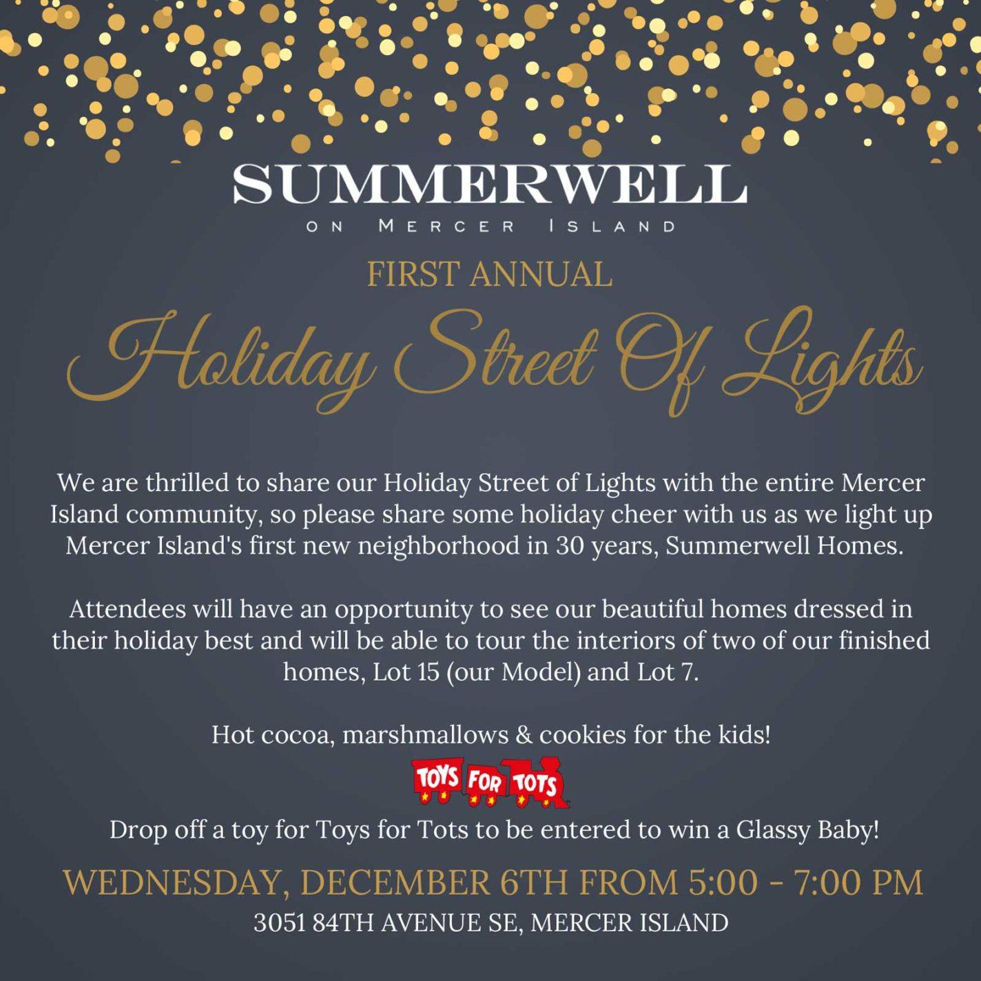 Holiday Street of Lights